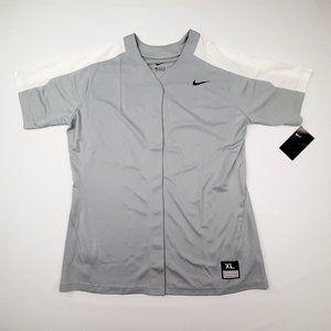 Nike Women's Softball Jersey Size XL Gray White QA